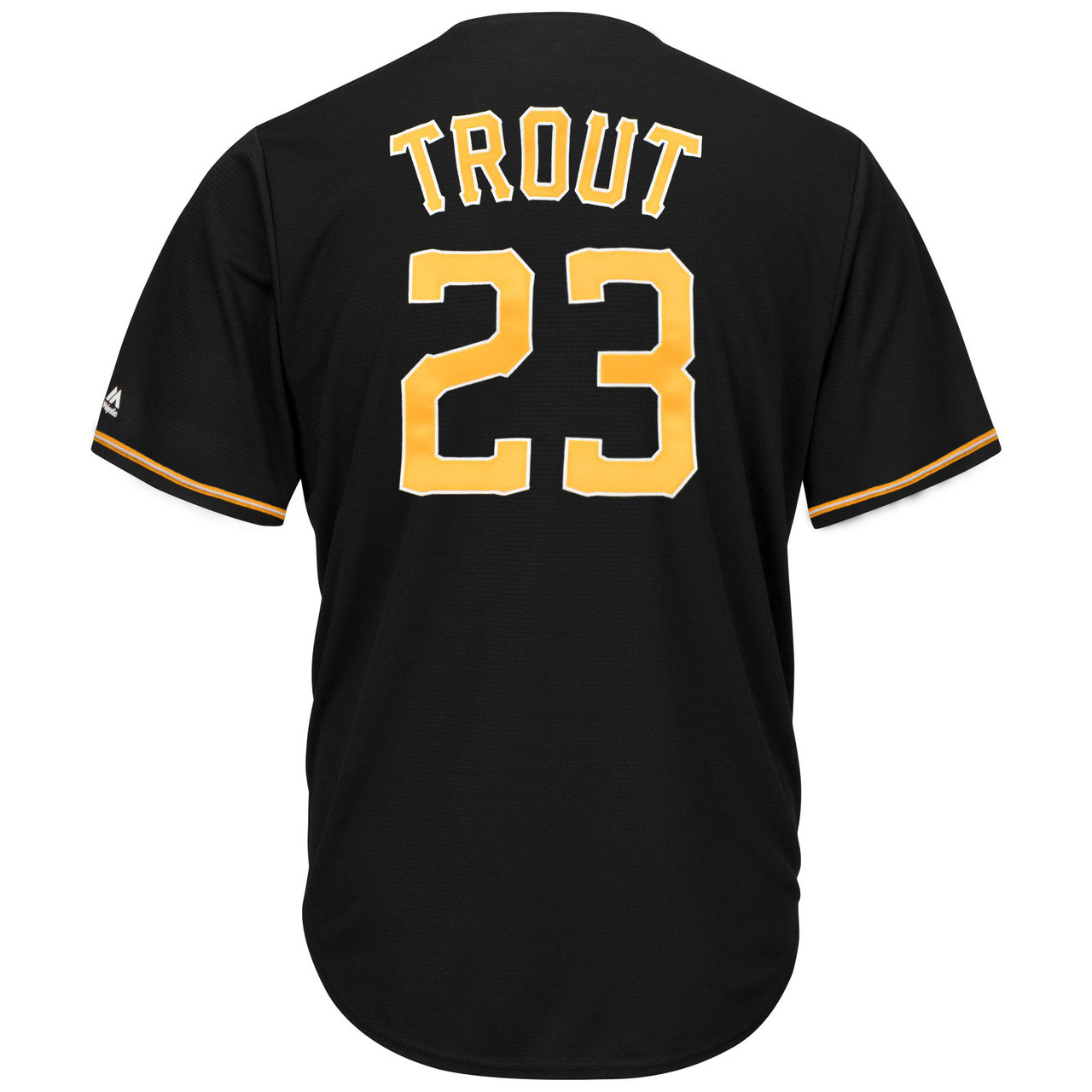 new style 9a347 7559c Alternate CoolBase Replica Player Jersey - MensApparelJerseys - Salt Lake  Bees - Trout Mike - Primary - Black - Majestic