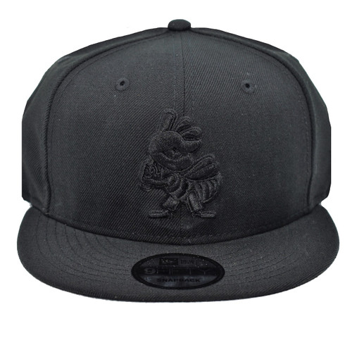 Black On Black Partial Core 9fifty Hat - HeadwearAdjustableSnapback - Salt Lake Bees -  - Primary - Black - New Era