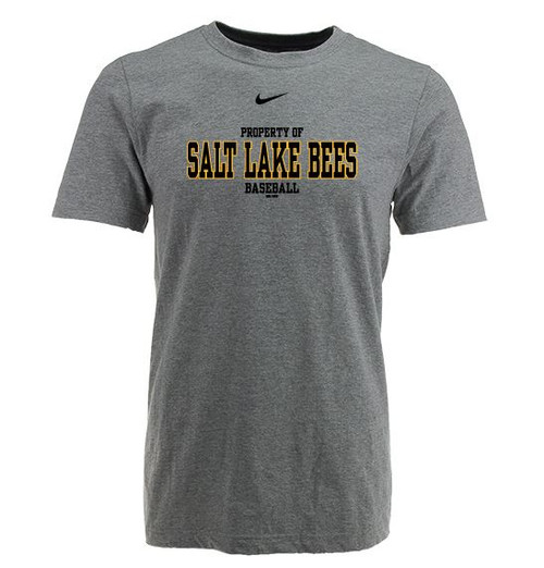 Oscar Comp Swoosh Tee - MensApparelTees - Salt Lake Bees -  - Primary - Gray - BSN Sports