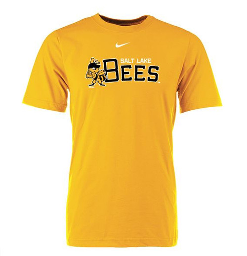 Logo Collection Primary Swoosh Tee - MensApparelTees - Salt Lake Bees -  - Primary - Gold - BSN Sports
