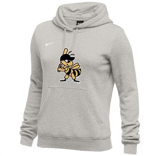 W Broken Logo Swoosh Hood - WomensOuterwearSweatshirtsHood - Salt Lake Bees -  -  - Gray - BSN Sports