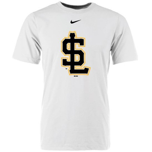 Logo Collection Secondary Swoosh Tee - MensApparelTees - Salt Lake Bees -  - Primary - White - BSN Sports