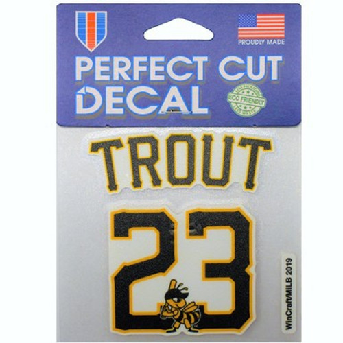 Player Number 4x4 Decal - Mike Trout -  - Primary - Wincraft