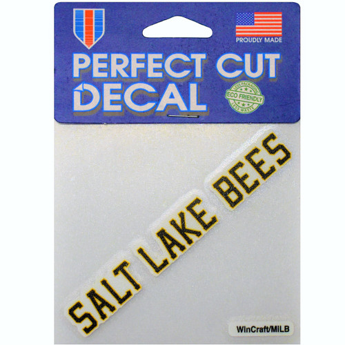 Wordmark Logo 4x4 Decal - NoveltyStickers - Salt Lake Bees -  - Primary -  - Wincraft