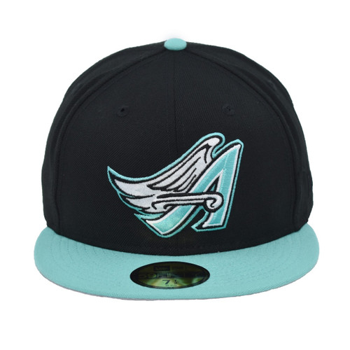 Mike Halo 59fifty Hat - HeadwearFitted - Los Angeles Angels -  - Primary - Black - New Era