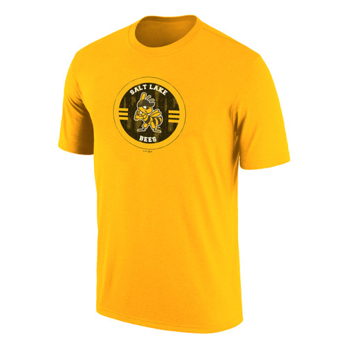 Circle Up Victory Tee - MensApparelTees - Salt Lake Bees -  - Primary - Gold - Retro Brand