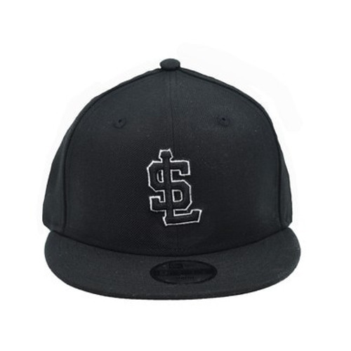 Yth White on Black Secondary 9fifty Hat -  - Black - Primary - New Era