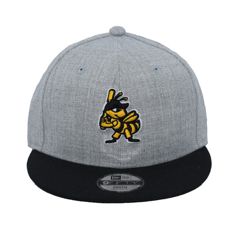 Yth Torso 9fifty Hat - HeadwearAdjustableSnapbackYouth - Salt Lake Bees -  - Primary - Gray - New Era