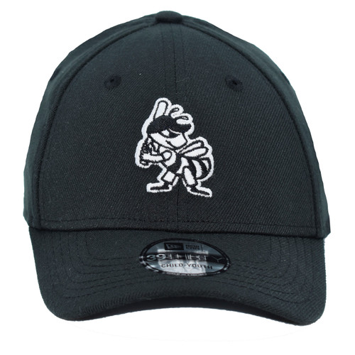 Yth White On Black Partial 39thirty Hat - HeadwearStretchYouth - Salt Lake Bees -  - Primary - Black - New Era