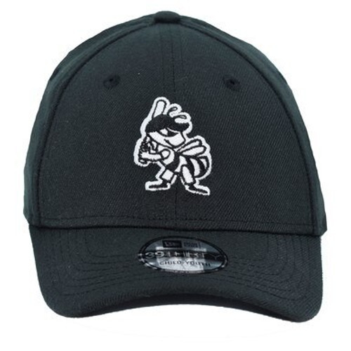 Yth White On Black Partial 39thirty Hat -  - Black - Primary - New Era