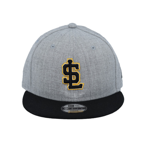 Yth Heather Collection 9fifty Hat - HeadwearAdjustableSnapbackYouth - Salt Lake Bees -  - Primary - Gray - New Era