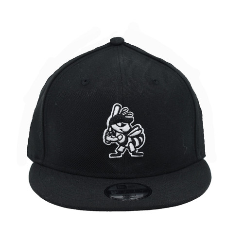 Yth White on Black Partial 9fifty Hat - HeadwearAdjustableSnapbackYouth - Salt Lake Bees -  - Primary - Black - New Era
