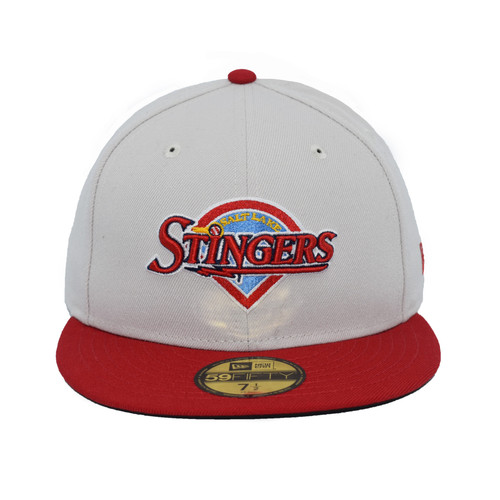 Little League Throwback 59fifty Hat - HeadwearFitted - Salt Lake Stingers -  - Primary - Gray - New Era