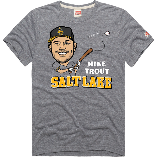 Fishing Player Tee - Mike Trout - Gray - Primary - Homage