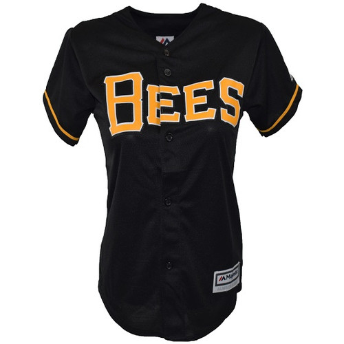 Cool Base Alternate Jersey  - WomensApparelJerseys - Salt Lake Bees -  - Primary - Black - Majestic