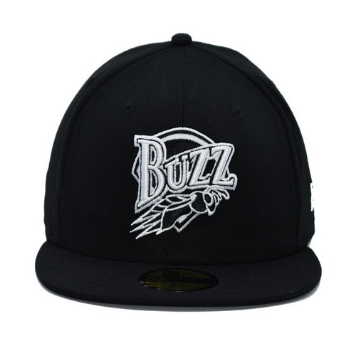 Fitted White On Black Core 59fifty  - HeadwearFittedMens - Salt Lake Buzz -  - Primary - Black - New Era