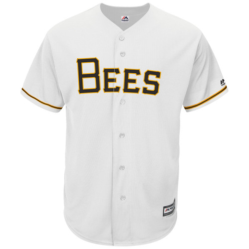 MiLB Mens Cool Base Home Jersey  - MensApparelJerseys - Salt Lake Bees -  - Primary - White - Majestic