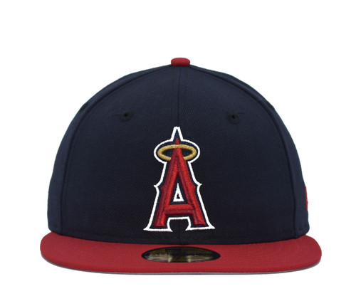 2T Basic 59fifty  - HeadwearFittedMens - Los Angeles Angels - - Primary - Navy - New Era