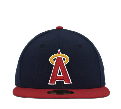 2T Coop Block A 59fifty  - HeadwearFittedMens - Los Angeles Angels -  - Cooperstown - Navy - New Era