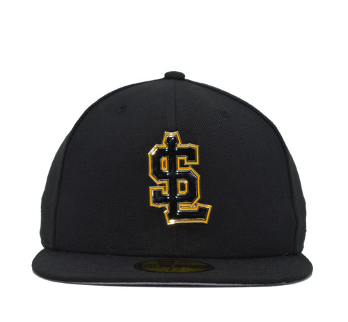 Design Lab Team Color Metal Logo 59fifty  - HeadwearFittedMens - Salt Lake Bees -  - Primary - Black - New Era