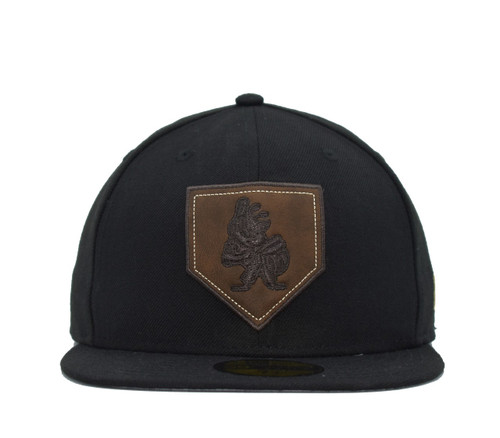 Design Lab Leather Home Plate 59fifty  - HeadwearFittedMens - Salt Lake Bees -  - Primary - Black - New Era