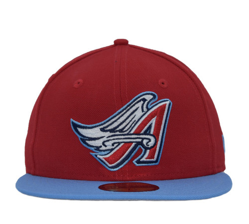 Wings 2T 59fifty  - HeadwearFittedMens - Los Angeles Angels -  - Cooperstown - Red - New Era