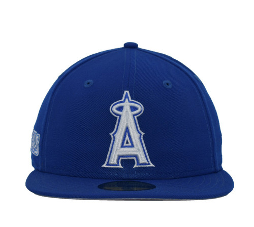 Royal White 59fifty  - HeadwearFitted - Los Angeles Angels -  - Primary - Royal - New Era