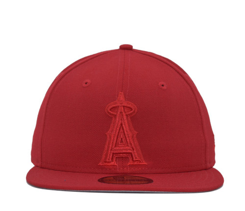 Red Tonal 59fifty  - HeadwearFitted - Los Angeles Angels -  - Primary - Red - New Era