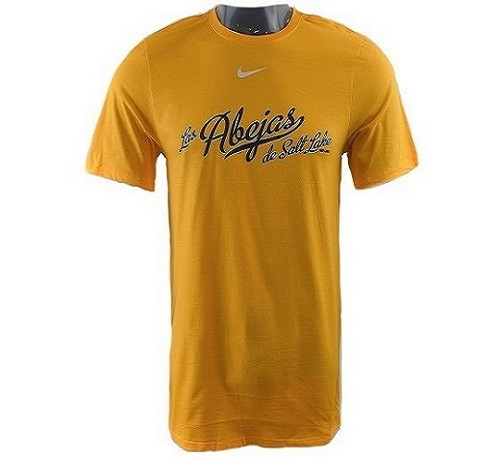 Full Abejas Swoosh Tee - Mens ApparelTees - Salt Lake Bees - - Gold - BSN Sports