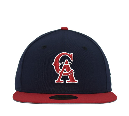 2T Coop CA 59fifty  - HeadwearFittedMens - Los Angeles Angels -  - Cooperstown - Navy - New Era