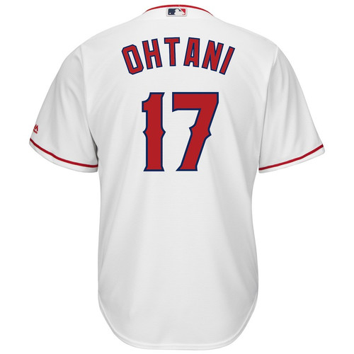 Home Coolbase Replica Jersey  - MensApparelJerseys - Los Angeles Angels - Ohtani Shohei - Primary - White - Majestic