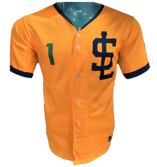 Jazz Bees Authentic Jersey - NoveltyCollectiblesMemorabilia - Salt Lake Bees - 1 - Gold -