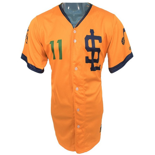 Jazz Bees Authentic Jersey - NoveltyCollectiblesMemorabilia - Salt Lake Bees - 11 - Gold -
