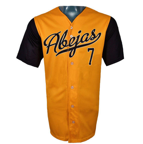 Abejas Authentic Jersey - NoveltyCollectiblesMemorabilia - Salt Lake Bees - 7 - Gold -