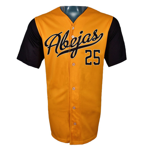 Abejas Authentic Jersey - NoveltyCollectiblesMemorabilia - Salt Lake Bees - 25 - Gold -