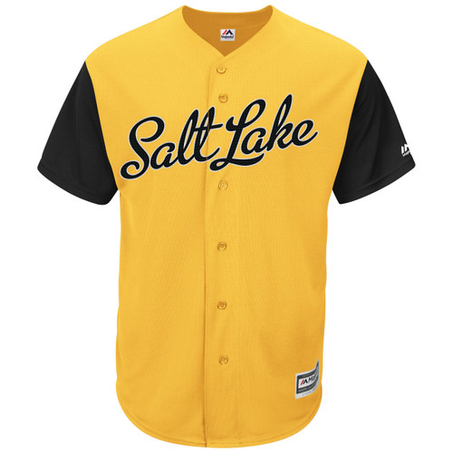 Alternate CoolBase Replica Jersey - MensApparelJerseys - Salt Lake Bees -  - Primary - Gold - Majestic