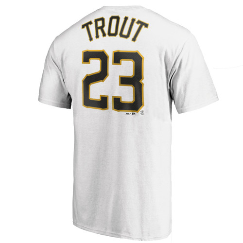 CallUp N&N Tee - MensApparelName&Number - Salt Lake Bees - Trout Mike - Primary - White - Majestic