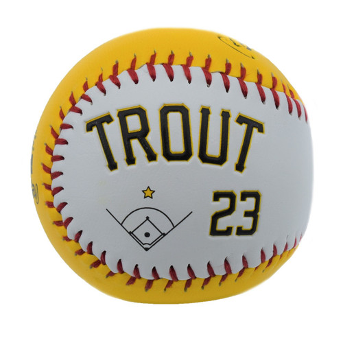 Play Ball Player Ball - NoveltyToysBalls - Salt Lake Bees - Trout Mike - Primary - Gold - Rawlings
