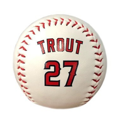 Player Uniform Ball - Mike Trout - White - Primary - Rawlings