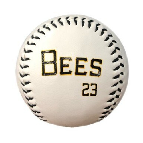 Player Uniform Ball - NoveltyToysBalls - Salt Lake Bees - Trout Mike - Primary - White - Rawlings