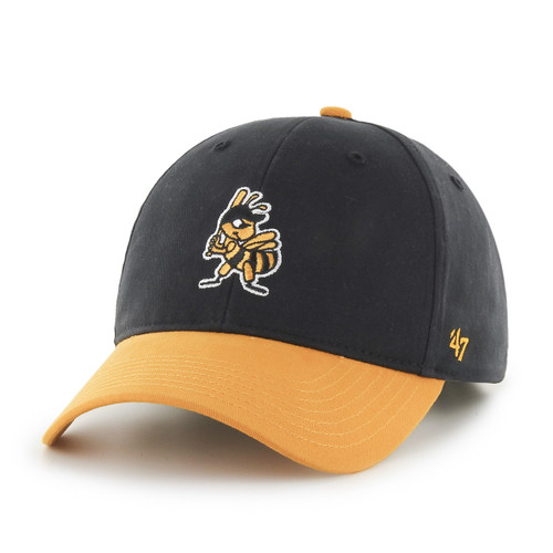 Yth Partial Short Stack MVP - HeadwearAdjustableFlexYouth - Salt Lake Bees -  - Primary - Black - 47 Brand