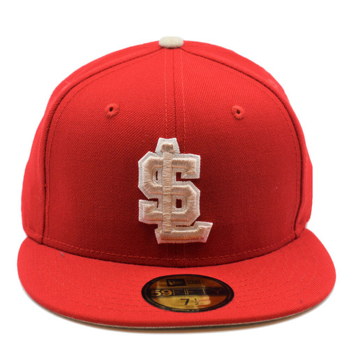 New Grass 59fifty Hat - HeadwearFittedMens - Salt Lake Bees -  - Primary - Red - New Era