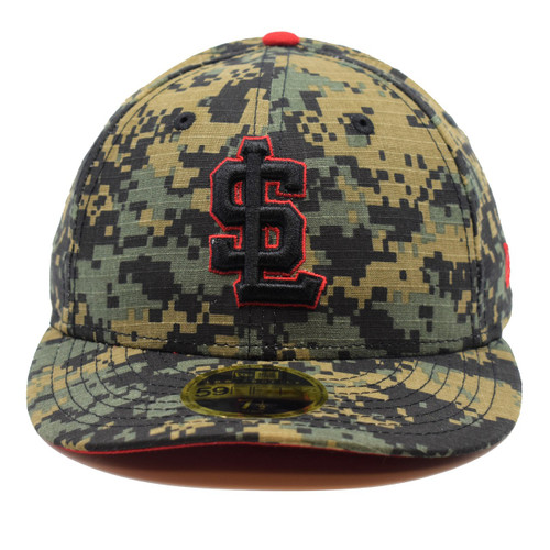 Should Have Known Better 59fifty Hat - HeadwearFittedLowCrown - Salt Lake Bees -  - Primary - Camo - New Era