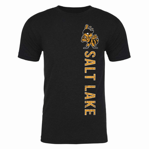 Vertical Left Stitches Tee - MensApparelTees - Salt Lake Bees -  - Primary - Black - 108 Stitches