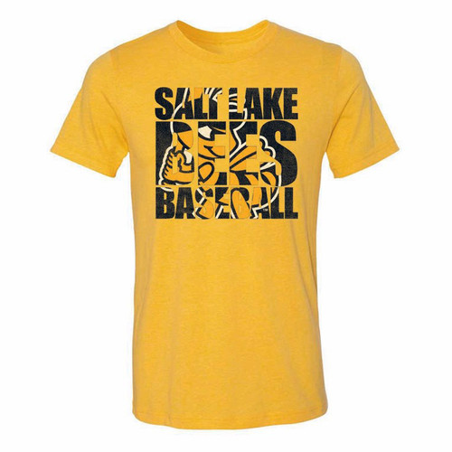 Block Stitches Tee - MensApparelTees - Salt Lake Bees -  - Primary - Gold - 108 Stitches