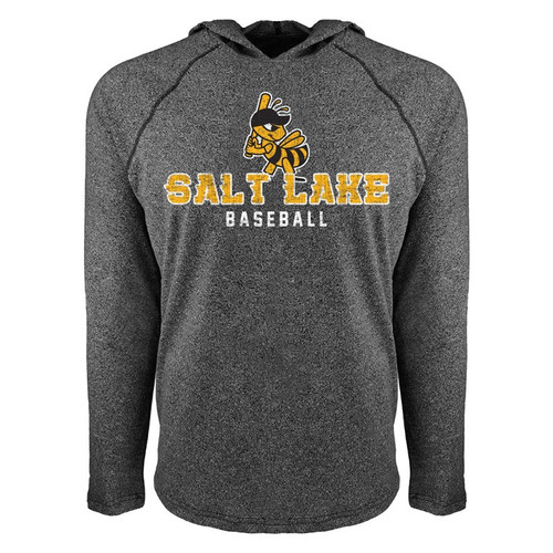 Euro Raglan Stitches Hood - MensOuterwearSweatshirtsHood - Salt Lake Bees -  - Primary - Black - 108 Stitches