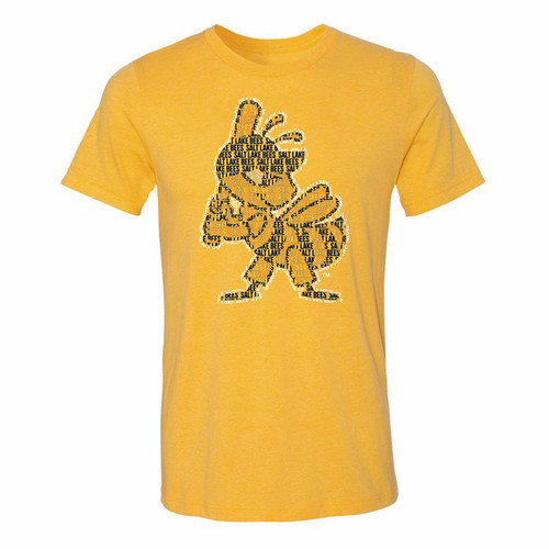 Spelled Out Stitches Tee - MensApparelTees - Salt Lake Bees -  - Primary - Gold - 108 Stitches