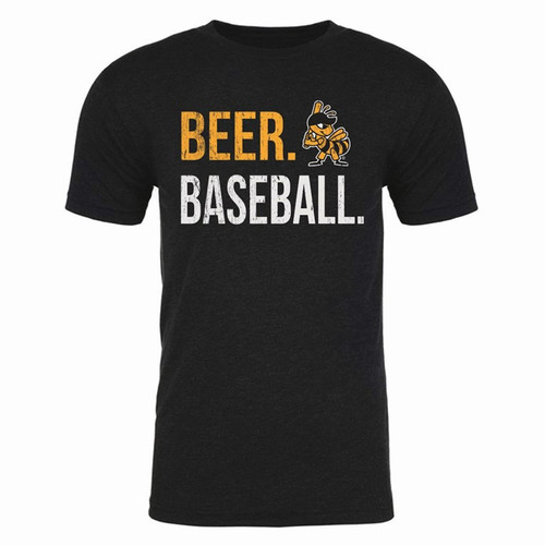 Beer Baseball Stitches Tee - MensApparelTees - Salt Lake Bees -  - Primary - Black - 108 Stitches