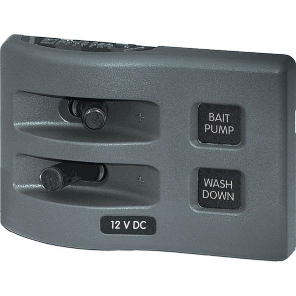 Blue Sea 4303 WeatherDeck 12V DC Waterproof Switch Panel - 2 Position [4303]
