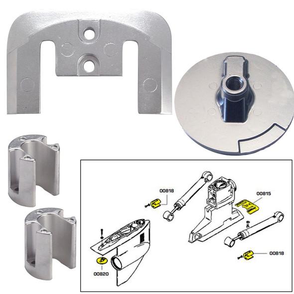 Tecnoseal Anode Kit w\/Hardware - Mercury Bravo 2-3 - Aluminum [20804AL]